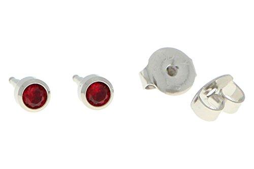 Solo orecchini acciaio chirurgico sterile orecchini fasce con pietra in vino rosso