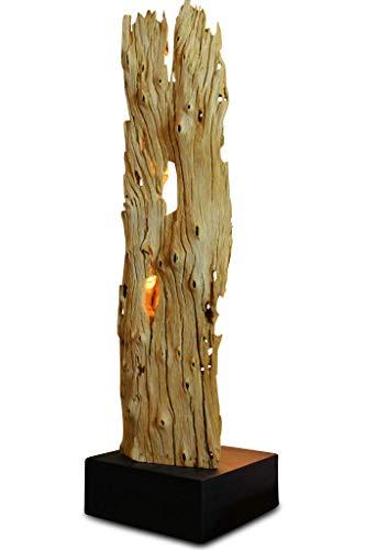 Kinaree Treibholz Stehlampe SUPHANBURI - 90cm Stehleuchte aus Treibholz mit LED-Spot, geeignet für Wohnzimmer, Flur Schlafzimmer oder auch Bad [EEK A+]