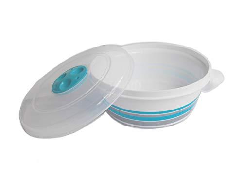 Tredoni Mikrowellentopf mit belüftetem Deckel, 3 l, Set mit 4 Größen (3 Liter)