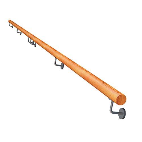 Handläufe aus massiver Eiche - Minimalistischer Haltegriff aus hochfestem Holz, inklusive Halterungen, Innentreppen, Dachboden und Außenwandmontage
