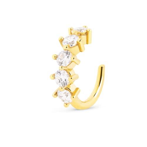 SINGULARU  - Pendiente Suelto Ear Cuff 5 Spark Oro - Joyas mujer