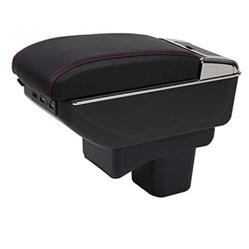 Para Suzuki Baleno Box Box Retrofit Parts Car Special Armrest Center Caja de almacenamiento Accesorios para automóviles Interior especial con base negra USB solamente ( Color : A black black line )