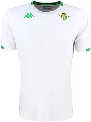 Camiseta de entrenamiento - Real Betis Balompié 2018/2019 - Kappa Abou 2 Jersey - Blanca/Verde - Adulto: Amazon.es: Ropa y accesorios