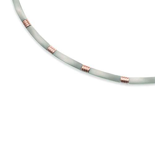 Boccia Damen-Collier Titan teilvergoldet 45 cm - 0877-03