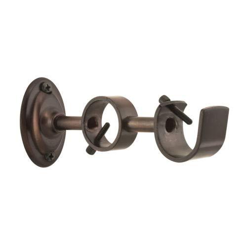 Decorative Steel Double Curtain Rod Bracket Zinc Sienna Bronze Drapery Brackets