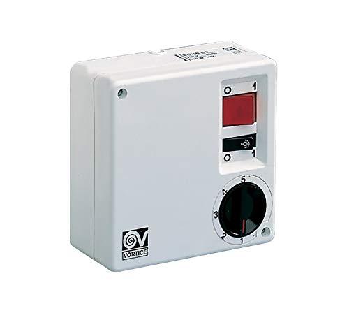 Vortice groep elektronische comandi voor plafondventilatoren, wandinstallatie of off-functie, keuze uit 5 snelheden en draairichting ontsteking.
