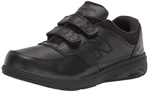 New Balance Men's 813 V1 Hook and Loop Walking Shoe, Black, 10