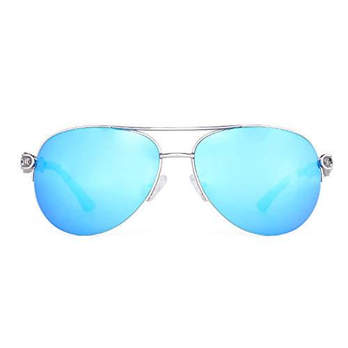 SWNN Sunglasses UV400 Pink Blue Ladies PC Gafas De Sol Gafas De Sol De Moda Gafas De Sol De Color (Color : Blue)