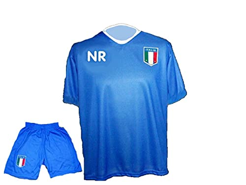 Spielfussballshop Italien Trikot Hose mit Wunschname Nummer Kinder Größe 152
