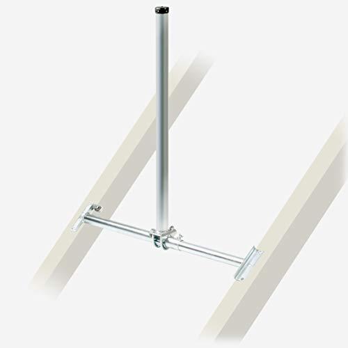 Fuba DSP 090 Dachsparrenhalter - TÜV-geprüft für Sat Schüsseln bis 1,0m Durchmesser, Sparrenabstand 52 bis 85 cm, Masthöhe 90 cm, Ø 48 mm, feuerverzinkt