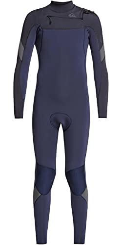 Quiksilver Traje de Neopreno Junior Boys Syncro 3/2mm Chest Zip Navy - Capas térmicas cálidas y Ligeras