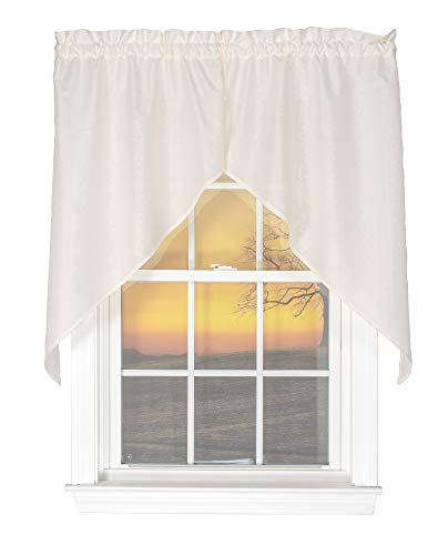 Curtain Chic Susquehanna 56 Inches Wide x 38 Inches Long Polyester Swag Curtain, Ivory
