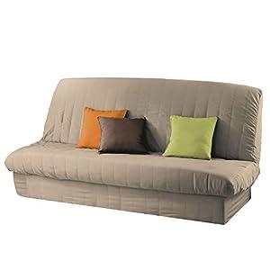 Douceur d'Intérieur 1605821, Funda de sofá clic-clac acolchada de poliéster, largo 185-200, Anchura 120-140 cm