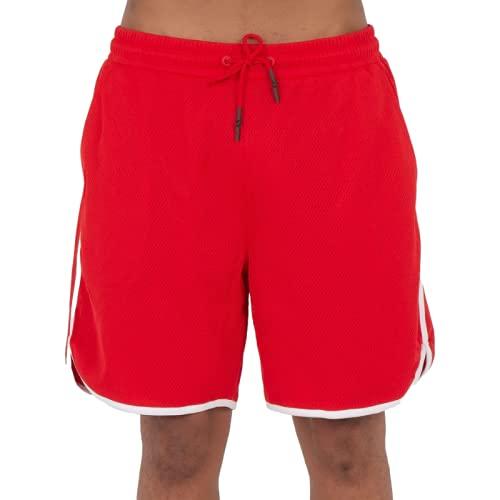 Katenyl Pantalones Cortos Deportivos con Costuras a Rayas para Hombre Pantalones Cortos de Entrenamiento de Cintura elástica Simple de Secado rápido para Correr XL