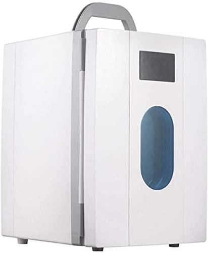 CDFCB de Alta Capacidad 16L refrigerador de automóviles Coche portátil Material de Uso Dual ABS + TEMPEMENTE GFRIDGES Voltaje 12V Coche 220V-Rosa