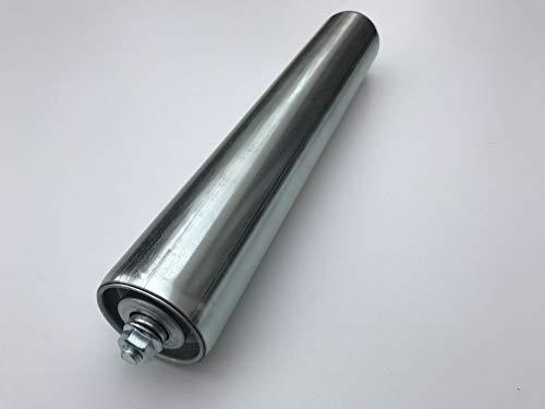 Tragrolle Tragrollen Rollen aus Stahl mit Stahlachse für Rollenbahn Ø 50 mm (Länge: 400 mm)