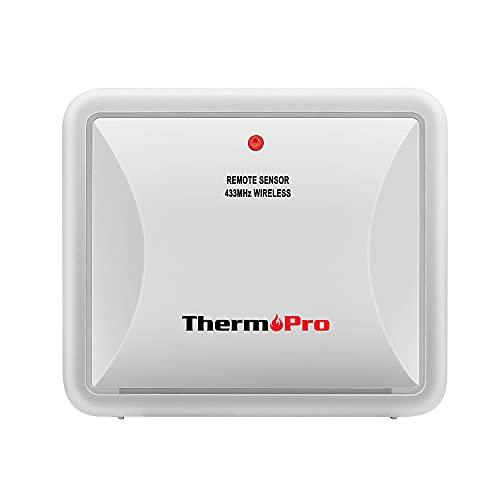 ThermoPro TPR60 Sensor Exterior Impermeable para TP60S/TP65 Monitor de Humedad con Termómetro, Batería Incluida (Solo Accesorios, NO se Puede Utilizar Solo)