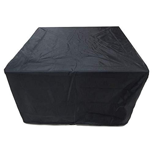 SSRS Jardín Muebles de ratán Cubierta Impermeable a Prueba de Viento del jardín de Tabla Cubierta Anti-UV Conjunto Caso, Adaptable Tamaño portátil, Duradero (Color : Negro, Size : 180X135X78CM)
