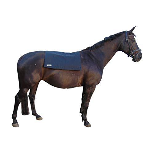 biomagnet24® Magnetfelddecke Magnetfeldmatte Rückenwärmer Wärmedecke für Pferde und Ponys, ideal zur Behandlung bei Verspannungen, Gelenkprobleme, Schmerzen usw. Incl. Ersatzbezug in braun 98cm x 70cm