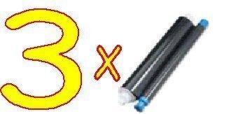 3 x Panasonic KX-FA55X Compatible cinta de transferencia térmica para KX-FP151 KX-FP155 KX-FP181 KX-FP185 - 3 Roll paquete