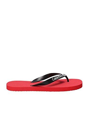 Calvin Klein KM0KM00210 Tongs Man Rouge 4546