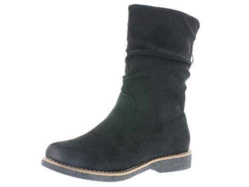 Rieker Damen Stiefel 97860, Frauen Winterstiefel, Women's Woman Freizeit leger Winter Boots halbschaftstiefel gefüttert,Black,41 EU 7.5 UK
