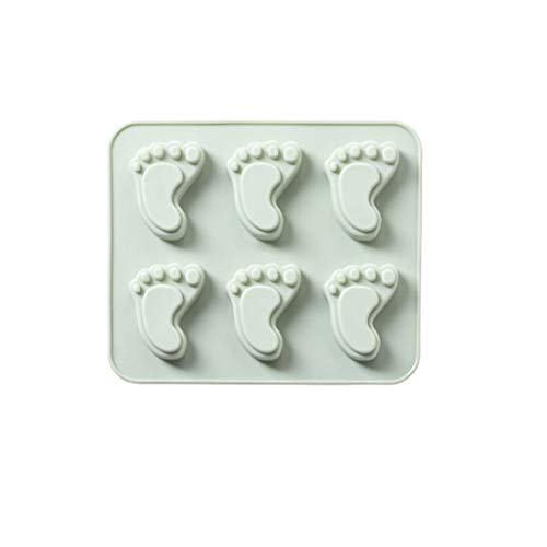 BEECM Mould Lovely Feet Silicone Safe Non-Toxic Eco-Friendly Fondant Mould Chocolate Sugar Craft Craft DIY Moulds