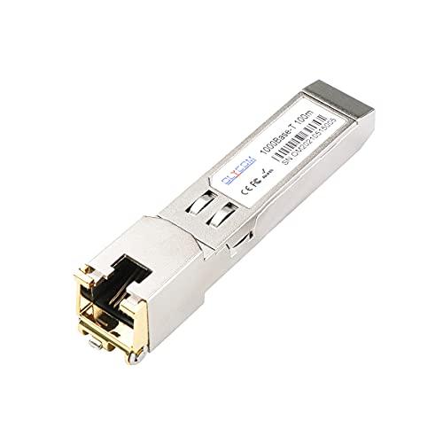 Cobre SFP Mini GBIC RJ45 SFP 1,25G 1000BASE-T 100m para Cisco GLC-T/SFP-GE-T Ubiquiti UF-RJ45-1G D-Link Netgear y otros dispositivos abiertos (1000Base-T: 100m)