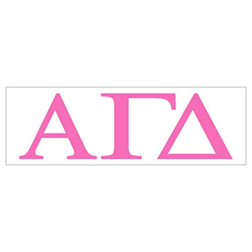 Pro-Graphx Alpha Gamma Delta Sticker Greek Sorority Decal for Car, Laptop, Windows, Officially Licensed Product, Girls College Group Monogram Design 2.5' Tall - Pink