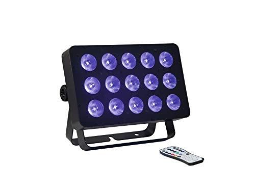 EUROLITE LED FLD-1508 UV Panel | Extrem heller UV-Strahler mit 15 x 8-W-LED, inkl. IR-Fernbedienung