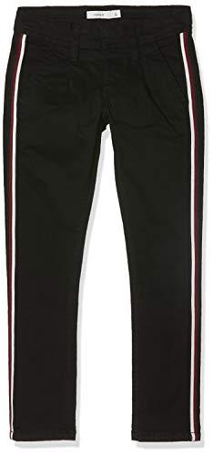 NAME IT Jungen NKMROBIN TWIBRIAN Cropped Chino BL Hose, Schwarz (Black Black), (Herstellergröße: 140)