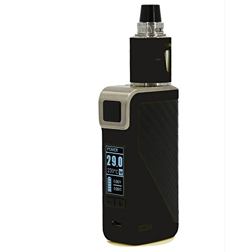 E-Zigarette/BoxMod AK60 mit 60W Kit - Sub Ohm Verdampfer 0,5 mit 2ml Topfill Tank, OLED-Display, schwarz, e-Shisha, Temperature controled, ohne Nikotin, Version NOX24, schwarz