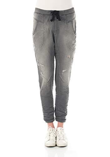 Please dames joggingbroek P51G - LAVPS310 - Relaxed Fit - Grijs - Grey Denim XXS XS S M L XL 98% katoen stretch