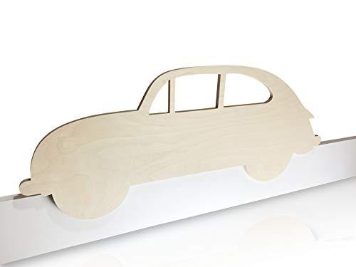 Kinder Bettgitter (Herausfallschutz) aus Holz - Motiv: Auto - modernes Design - handgefertigt in Deutschland