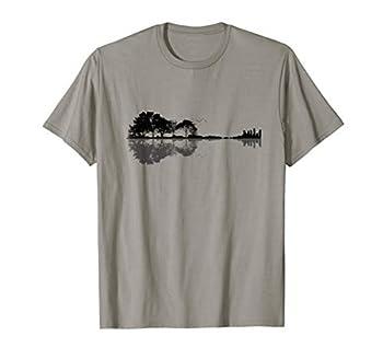 Acoustic Guitar Nature Forest Music Bass Guitarist Men Women T-Shirt