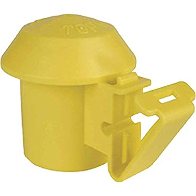 AgraTronix I-10 T-Post Safety Topper [Pack of-10] Yellow for T-Posts, Wood Posts, Wire Holding Insulator | Fencing Supplies