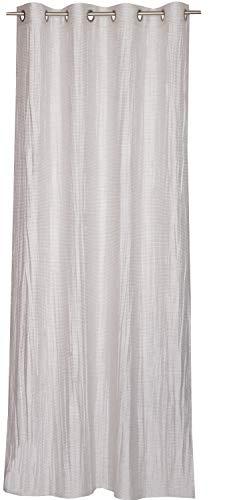 Schöner Wohnen Prima-Vista Ösenvorhang Gardinen Vorhänge Stores - Größe 130 x 250 cm - Farbe beige/braun/Erde/Sand