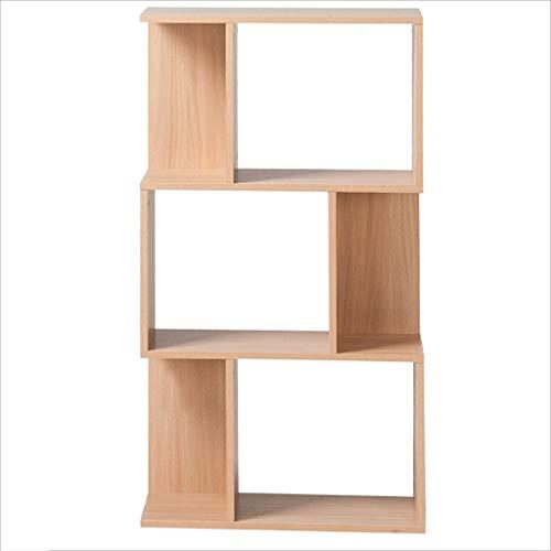 Liutao Boekenkast, creatief hout, voor de woonkamer, geometrisch boekenrek, boekenrek, robuust boekenrek