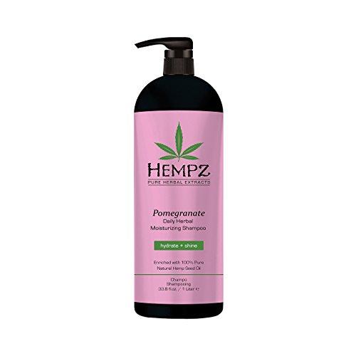 Hempz Pomegranate Daily Herbal Moisturizing Shampoo,pearl pink, 33.8 Fluid Ounce
