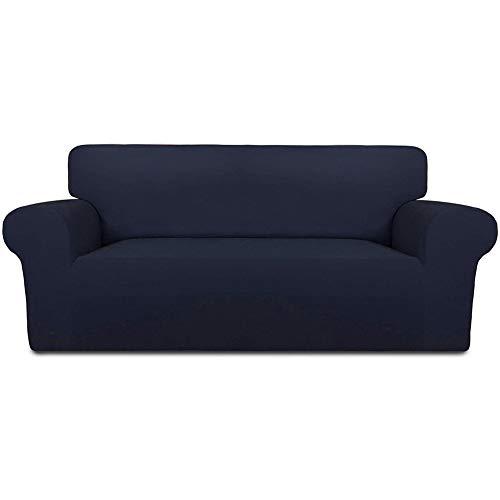 INMOZATA Sofabezug für 3-Sitzer, Polyester, Elastan, elastisch, waschbar, Marineblau