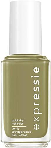 essie expressie Quick-Dry Vegan Nail Polish, Precious Cargo-Go!, Olive Green, 0.33 Ounce