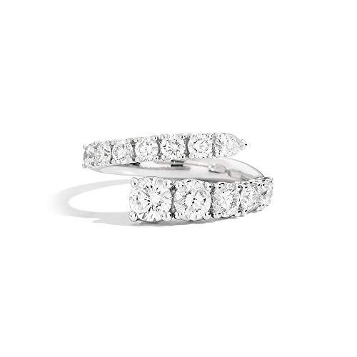 Recarlo Anello Contrarié con Diamanti in Oro Bianco Anniversary