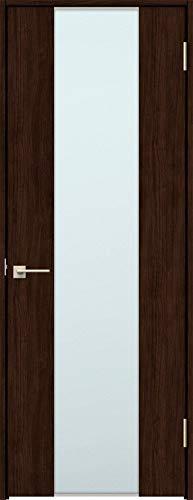 ラシッサS 標準ドア ASTH-LGN 錠付き 0620 W:734mm × H:2,023mm 吊元:左吊元 本体色/枠色:クリエダーク(DD) 枠種類:ノンケーシング95(壁厚:64-75) 沓摺:埋込沓摺(A枠) 把手:サークルB 鍵種類:丸型表示錠