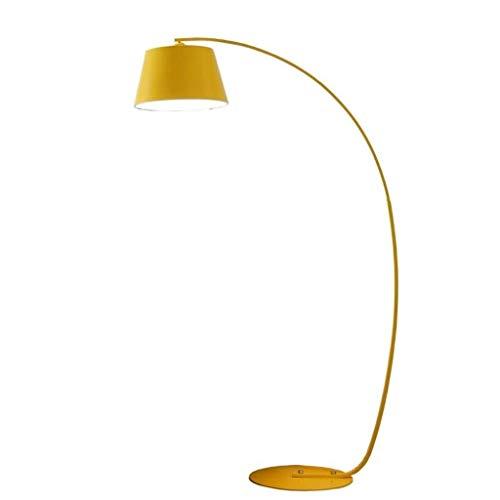 GIOAMH Lámpara de pie para sala de estar, dormitorio, accesorio de iluminación, lámpara de pesca nórdica, luces de pie de arte curvo