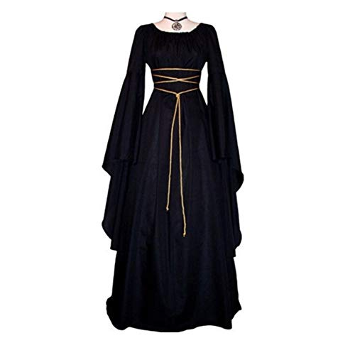 GBYAY Vestido de Disfraces de Halloween para Mujeres Cosplay Scary Witch Dress Mujeres Carnaval Masquerade Cosplay Dress