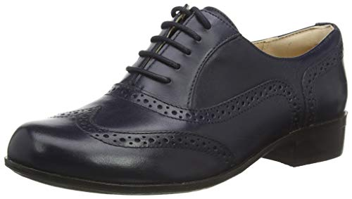 Clarks Damen Hamble Oak Brogues, Blau (Navy Leather Navy Leather), 41 EU