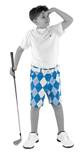 Royal & Awesome Kids Old Tom's Bright Golf Shorts - Large Age 12-13 Years