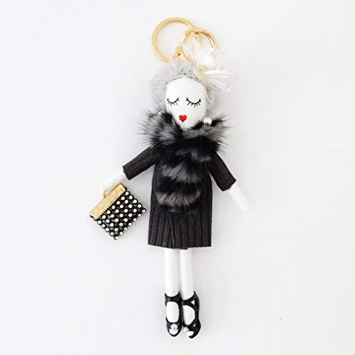 バッグチャーム 大人 かわいい オシャレレディードールチャーム レース ビジュー サングラス 人形 大人 キーホルダー 女の子 アフロ バックチャーム レディース レデイース キ-ホルダ- バッグ チャ-ム vnsa-c493 (F)