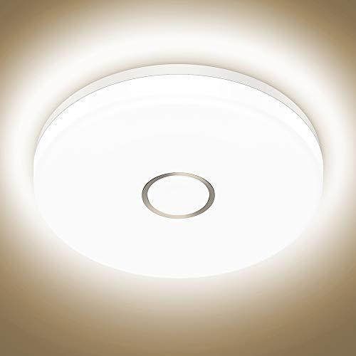 Onforu 18W LED Deckenleuchte Badezimmer, Wasserdicht Deckenlampe, 1600lm 4000K Neutralweiß Küchenlampe, CRI über 90 Badezimmerlampe, Badlampe Decke Lampe für Küche, Schlafzimmer, Wohnzimmer, Bad