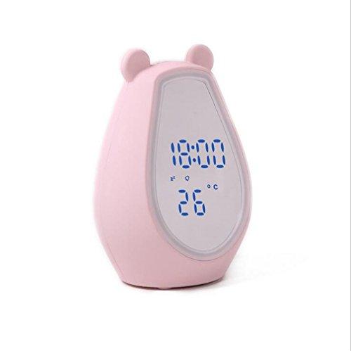 Wekker Meng Bear make-up spiegel hoeveelheid pet muziek inductie make-up lamp schattig wit roze persoonlijkheid creatief kerstcadeau roze